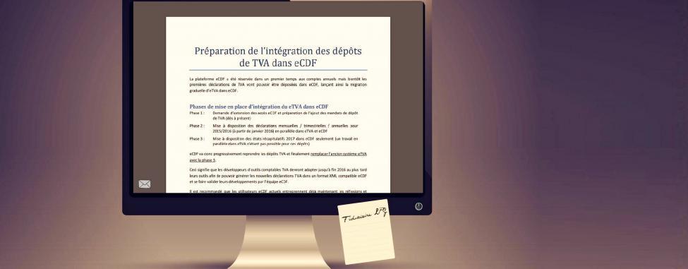 Intégration d'eTVA au système eCDF