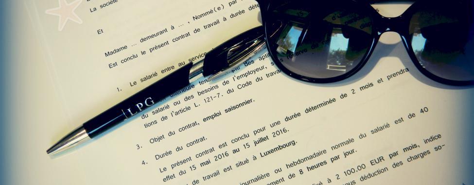 LPG Luxembourg : les règles pour l'embauche d'étudiants et les contrats étudiant.